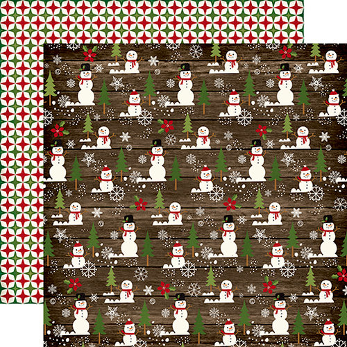 Echo Park - The Story of Our Christmas Collection - 12 x 12 Double Sided Paper - Snowman