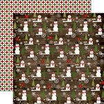 Echo Park - The Story of Christmas Collection - 12 x 12 Double Sided Paper - Snowman