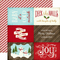 Echo Park - The Story of Christmas Collection - 12 x 12 Double Sided Paper - 4 x 6 Journaling Cards