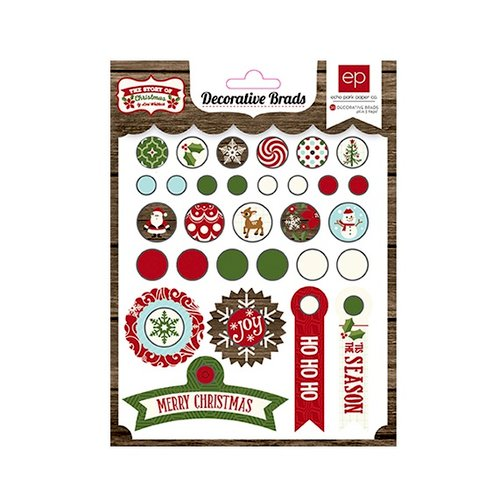 Echo Park - The Story of Our Christmas Collection - Decorative Brads