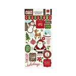 Echo Park - The Story of Our Christmas Collection - Chipboard Stickers
