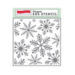 Echo Park - The Story of Our Christmas Collection - 6 x 6 Stencil - Snowflakes 1
