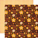 Echo Park - The Story of Fall Collection - 12 x 12 Double Sided Paper - Floral and Leaves