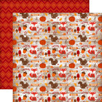 Echo Park - The Story of Fall Collection - 12 x 12 Double Sided Paper - Icons