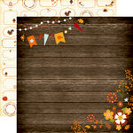 Echo Park - The Story of Fall Collection - 12 x 12 Double Sided Paper - Wood Floral