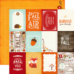 Echo Park - The Story of Fall Collection - 12 x 12 Double Sided Paper - 3 x 4 Journaling Cards