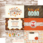 Echo Park - The Story of Our Fall Collection - 12 x 12 Double Sided Paper - 4 x 6 Journaling Cards