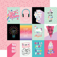 Echo Park - Teen Spirit Girl Collection - 12 x 12 Double Sided Paper - 3 x 4 Journaling Cards