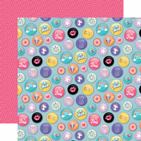 Echo Park - Teen Spirit Girl Collection - 12 x 12 Double Sided Paper - Epic Buttons