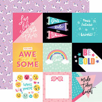 Echo Park - Teen Spirit Girl Collection - 12 x 12 Double Sided Paper - 4 x 4 Journaling Cards