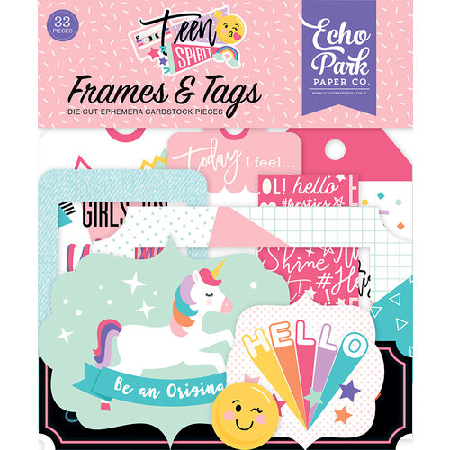Echo Park - Teen Spirit Girl Collection - Frames and Tags