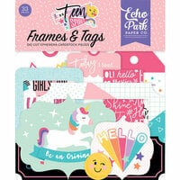 Echo Park - Teen Spirit Girl Collection - Ephemera - Frames and Tags