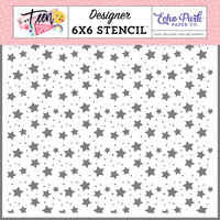 Echo Park - Teen Spirit Girl Collection - 6 x 6 Stencil - Shine On Stars