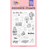 Echo Park - Teen Spirit Girl Collection - Clear Photopolymer Stamps - You Glow Girl
