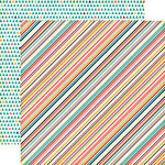 Echo Park - The Story of Our Family Collection - 12 x 12 Double Sided Paper - Multi Stripe