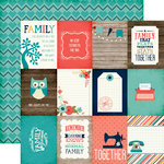 Echo Park - The Story of Our Family Collection - 12 x 12 Double Sided Paper - 3 x 4 Journaling Cards