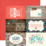 Echo Park - The Story of Our Family Collection - 12 x 12 Double Sided Paper - 4 x 6 Journaling Cards