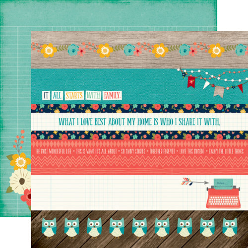 Echo Park - The Story of Our Family Collection - 12 x 12 Double Sided Paper - Borders