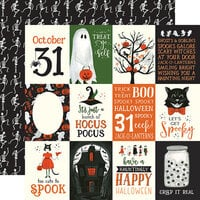 Echo Park - Trick or Treat Collection - Halloween - 12 x 12 Double Sided Paper - 3 x 4 Journaling Cards