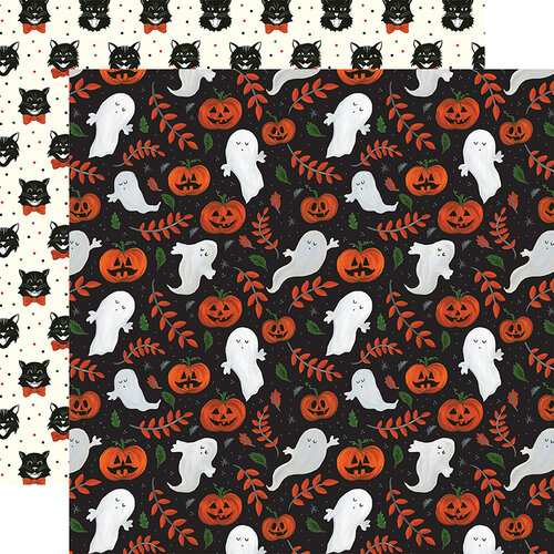 Echo Park - Trick or Treat Collection - Halloween - 12 x 12 Double Sided Paper - Spooky Ghosts