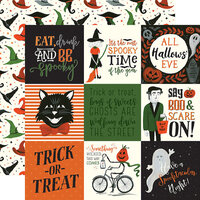 Echo Park - Trick or Treat Collection - Halloween - 12 x 12 Double Sided Paper - 4 x 4 Journaling Cards