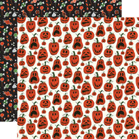 Echo Park - Trick or Treat Collection - Halloween - 12 x 12 Double Sided Paper - Pumpkins
