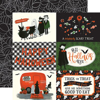 Echo Park - Trick or Treat Collection - Halloween - 12 x 12 Double Sided Paper - 4 x 6 Journaling Cards