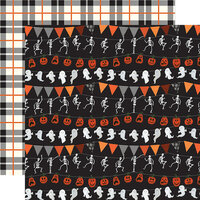 Echo Park - Trick or Treat Collection - Halloween - 12 x 12 Double Sided Paper - Halloween Banners