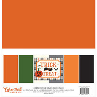 Echo Park - Trick or Treat Collection - Halloween - 12 x 12 Paper Pack - Solids