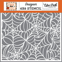 Echo Park - Trick or Treat Collection - Halloween - 6 x 6 Stencil - Spooky Spiderweb