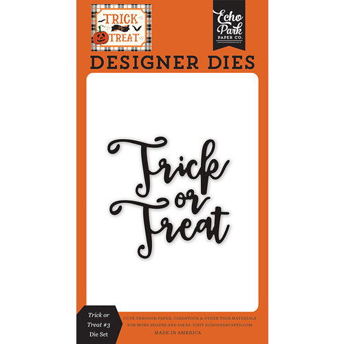 Echo Park - Trick or Treat Collection - Halloween - Designer Dies - Word Set 3
