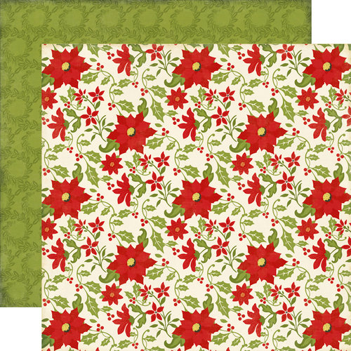 Echo Park - This and That Collection - Christmas - 12 x 12 Double Sided Paper - Poinsettias