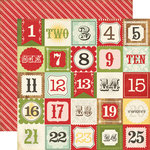 Echo Park - This and That Collection - Christmas - 12 x 12 Double Sided Paper - Christmas Countdown