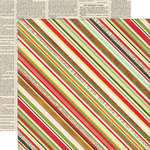 Echo Park - This and That Collection - Christmas - 12 x 12 Double Sided Paper - Stripes
