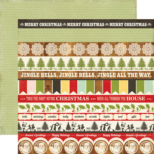 Echo Park - This and That Collection - Christmas - 12 x 12 Double Sided Paper - Borders