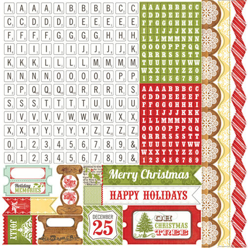 Echo Park - This and That Collection - Christmas - 12 x 12 Cardstock Stickers - Alphabet