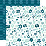 Echo Park - Through The Year Collection - Christmas - 12 x 12 Double Sided Paper - Snowflake Flurry