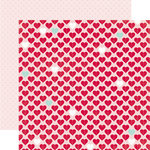 Echo Park - Through The Year Collection - 12 x 12 Double Sided Paper - Lovely Hearts