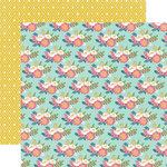 Echo Park - Through The Year Collection - 12 x 12 Double Sided Paper - Beautiful Flowers