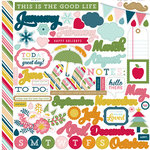 Echo Park - Through The Year Collection - 12 x 12 Cardstock Stickers - Elements
