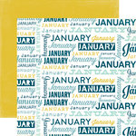 Echo Park - Through The Year Collection - 12 x 12 Double Sided Paper - January