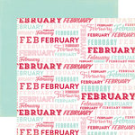 Echo Park - Through The Year Collection - 12 x 12 Double Sided Paper - February