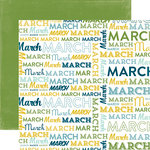 Echo Park - Through The Year Collection - 12 x 12 Double Sided Paper - March
