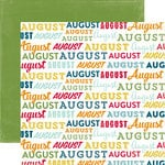 Echo Park - Through The Year Collection - 12 x 12 Double Sided Paper - August