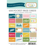 Echo Park - Through The Year Collection - 4 x 6 Pocket Page Cards - Memos