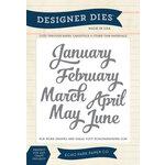 Echo Park - Through The Year Collection - Designer Dies - Jan-June Months