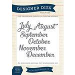 Echo Park - Through The Year Collection - Designer Dies - July-Dec Months