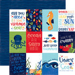 Echo Park - Under the Sea Collection - 12 x 12 Double Sided Paper - 3 x 4 Journaling Cards