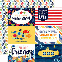 Echo Park - Under the Sea Collection - 12 x 12 Double Sided Paper - 4 x 6 Journaling Cards