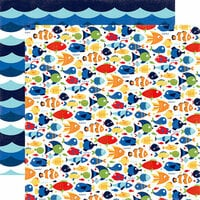 Echo Park - Under the Sea Collection - 12 x 12 Double Sided Paper - Aquatic Fun